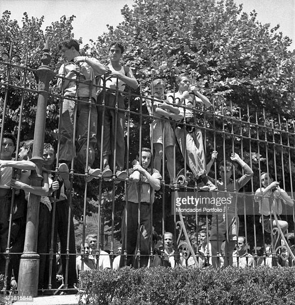 Some young people gathered outside the Policlinico Umberto I after Italian politician and General Secretary of Italian Communist Party Palmiro...