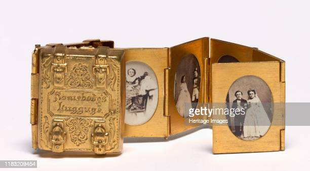 Somebody's Luggage circa 1863 This deluxe commercial souvenir commemorates the marriage of General Tom Thumb and Lavinia Warren performers at P T...