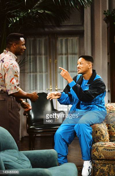 AIR 'Someday Your Prince will be in Effect Part 1 2' Episodes 8 9 Pictured Bo Jackson as Himself Will Smith as William 'Will' Smith