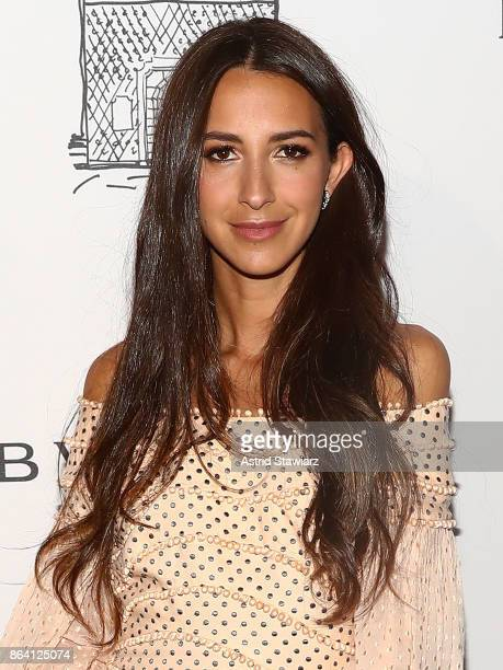 Somehing Navy blogger Arielle Charnas attends Bulgari 5th Avenue flagship store opening on October 20 2017 in New York City