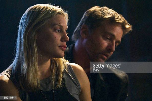 GALACTICA 'Someone To Watch Over Me' Episode 19 Aired Pictured Katee Sackhoff as Lieutenant Kara 'Starbuck' Thrace Roark Critchlow as Slick