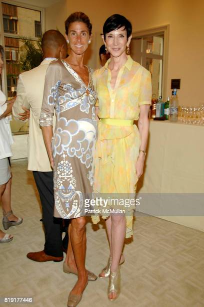 Somers Farkas and Amy Fine Collins attend Susan FalesHill's ONE FLIGHT UP Book Launch Party at 15 Central Park West on July 21st 2010 in New York City
