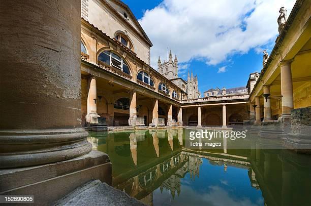 uk, somerset, bath, roman baths - bath england stock pictures, royalty-free photos & images