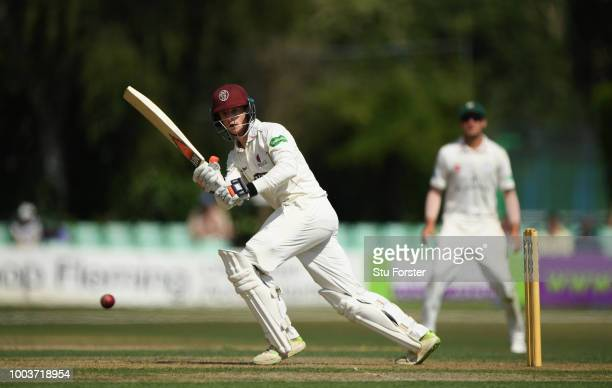 Somerset batsman Tom Abell picks up some runs during Day One of the Specsavers County Championship Division One match between Worcestershire and...