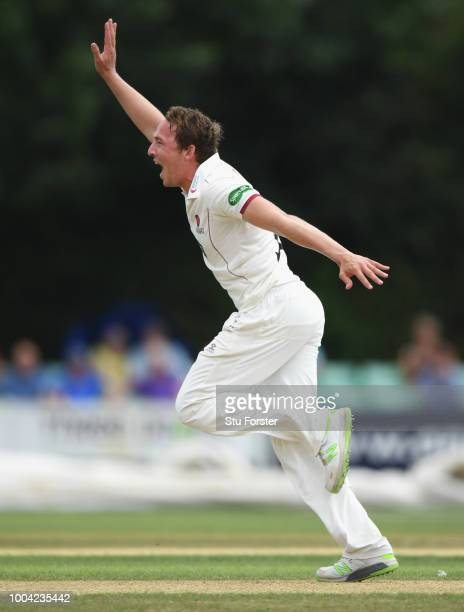 Somerset bowler Josh Davey in action during Day two of the Specsavers County Championship Division One match between Worcestershire and Somerset at...