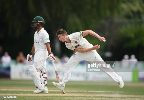 Somerset bowler Tom Abell in action during Day two of the Specsavers County Championship Division One match between Worcestershire and Somerset at...