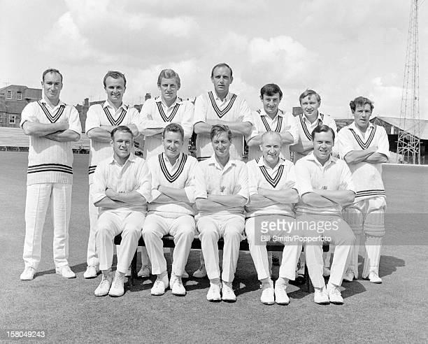 Somerset county cricket team 5th August 1967 Back row Terry Barwell Alan Clarkson Graham Burgess Fred Rumsey Mervyn Kitchen Peter Robinson Geoff...