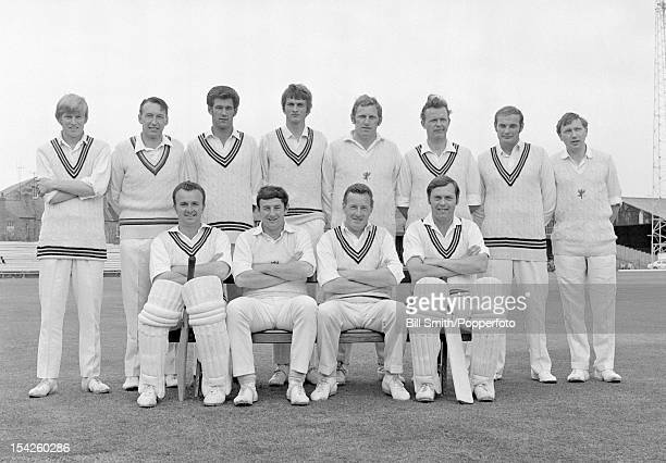 Somerset county cricket team circa May 1970 Back row Brian Rose Tom Cartwright Roy Palmer Alan Jones Graham Burgess Maurice Hill Derek Taylor Peter...