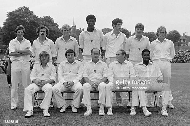 Somerset County cricket team photographed prior to their Gillette Cup 3rd round match against Derbyshire at Ilkeston 3rd August 1977 Somerset won by...