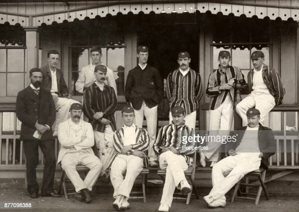Somerset County Cricket team prior to their match against Surrey at the County Ground in Taunton on 13th August 1891 Somerset won by 130 runs Left to...