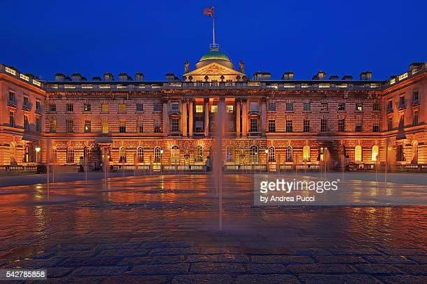 somerset house, london, united kingdom - the strand london stock pictures, royalty-free photos & images