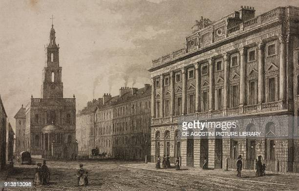 Somerset House Strand London England United Kingdom engraving by Lemaitre from Angleterre Ecosse et Irlande Volume IV by Leon Galibert and Clement...