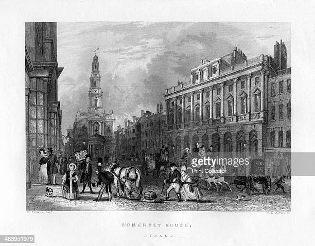 Somerset House, the Strand, London, 19th century. Designed by Sir William Chambers, Somerset House originally housed public offices, including the...