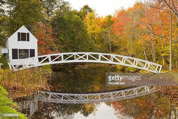 Somesville Brücke im Herbst, Mount Desert Island, Maine