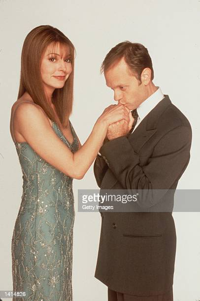 """Something borrowed, someone blue. Jane Leeves and David Pierce from the show """"Frasier"""". Photo Credit: Paul Drinkwater NBC/Deliverd by Online USA, Inc."""