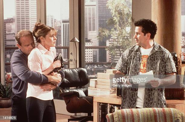 """Something borrowed, someone blue. Kelsey Grammer, Jane Leeves and Anthony Lapaglia from the show """"Frasier"""". Photo Credit: Paul Drinkwater..."""
