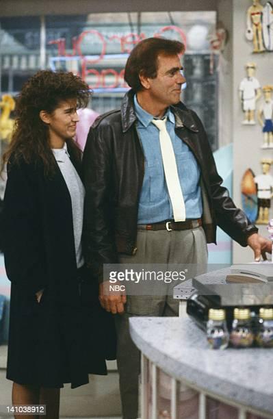 LIFE 'Something in Common' Episode 13 Pictured Nancy McKeon as Joanne 'Jo' Polniaczek Alex Rocco as Charlie Polniaczek Photo by Alice S Hall/NBC/NBCU...