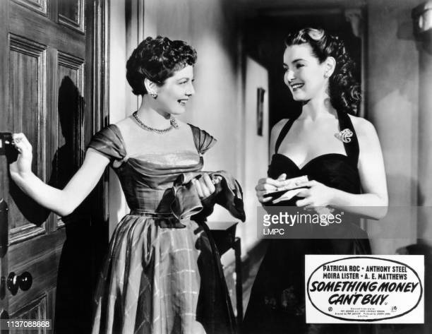 Something Money Can't Buy lobbycard from left Diane Hart Patricia Roc 1952