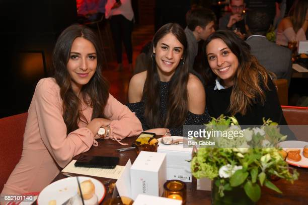Something Navy Blogger Arielle Charnas Nikki Weissman and Alyssa Kornfeld attend the Fossil Firsts Dinner Hosted By Something Navy at 33 Greenwich on...