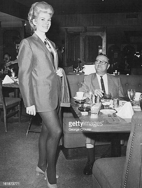 OCT 23 1966 OCT 24 1968 Something New in Suits Men's fashions are given a weekly lift in the Kilty Room of Denver's Hyatt House Hotel when models...