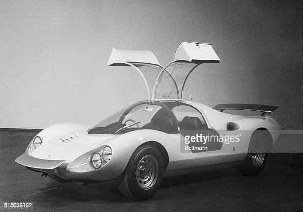 Something New Paris France The latest Pinin Farina car body to be shown at the Paris Car Show was this Dino model with a Fiat engine a competition...