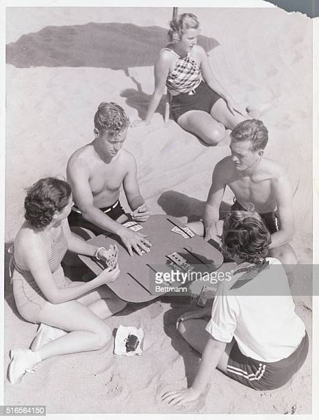 Something New under the Sun Venice California Novel new beach bridge tables introduced in Southern California The new table stands on one leg which...