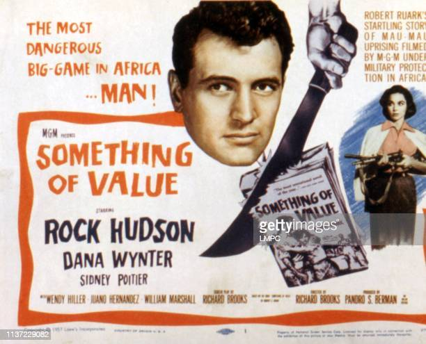 Something Of Value lobbycard Rock Hudson Dana Wynter 1957