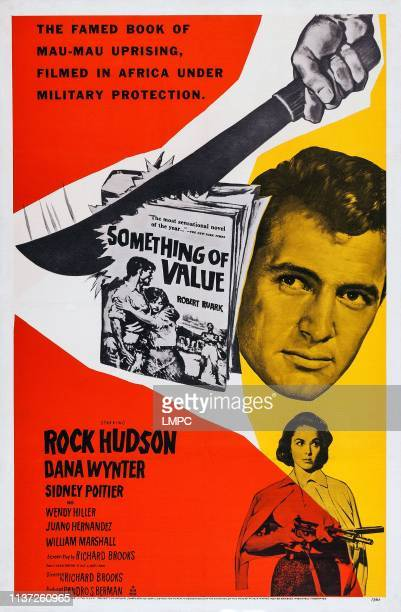 Something Of Value poster US poster art from top Rock Hudson Dana Wynter 1957