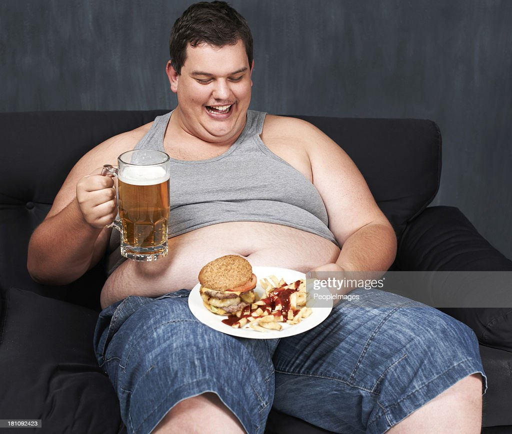 Fat Person Eating Food