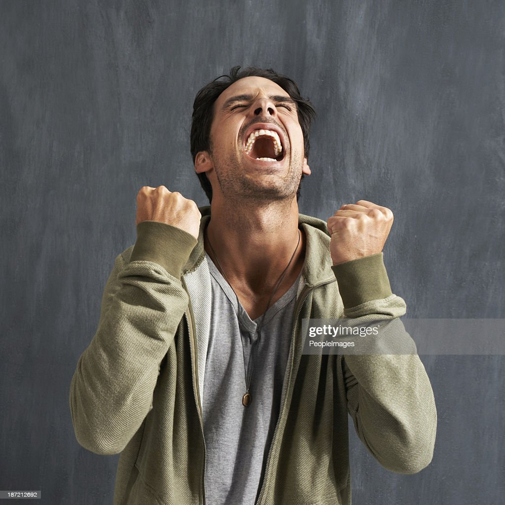 Something's made him upset : Stock Photo