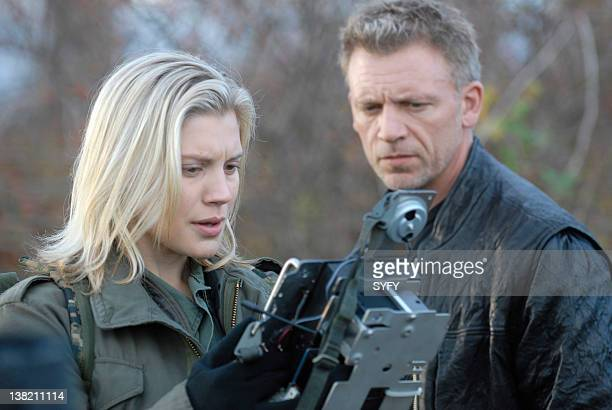 GALACTICA 'Sometimes a Great Notion' Episode 13 Air Date Pictured Katee Sackhoff as Kara 'Starbuck' Thrace Callum Keith Rennie as Leoben Conoy