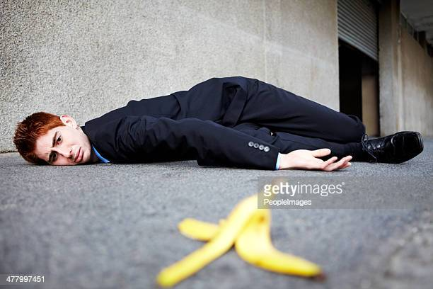 sometimes banana skins are unavoidable - bad luck stock pictures, royalty-free photos & images
