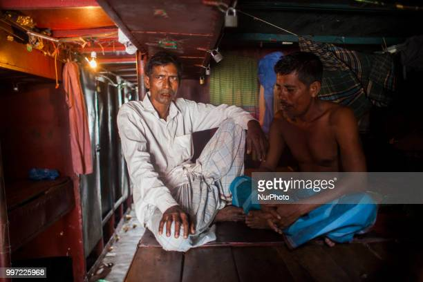 Sometimes the guests has no work to do as they all are day laborer On the bank of Buriganga in the capital city of the tiny country the hotel is made...