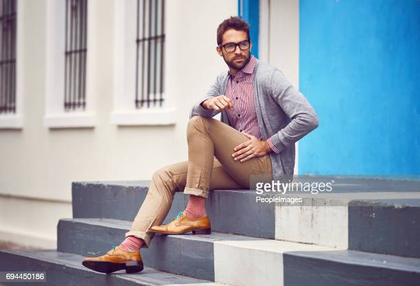sometimes the streets of the city are my inspiration - men fashion stock photos and pictures