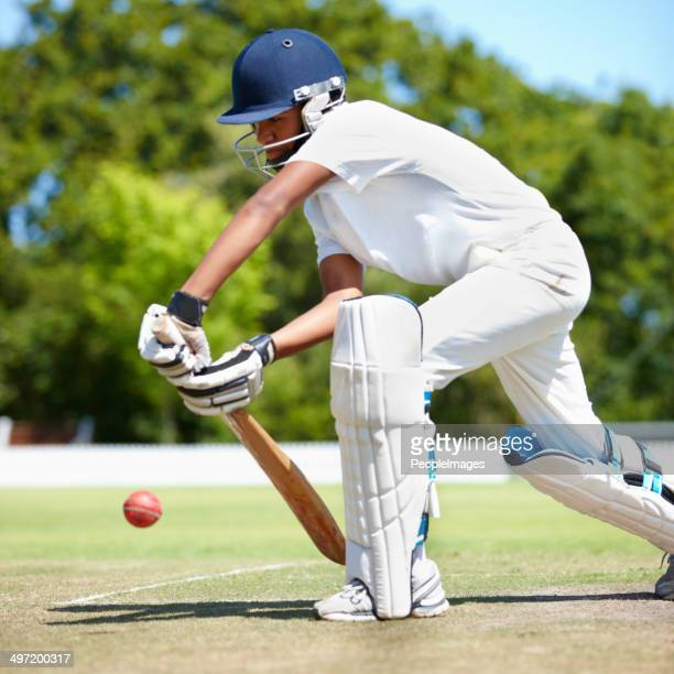 sometimes you've got to play it safe - cricket stock pictures, royalty-free photos & images