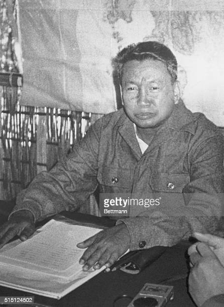 Deposed Cambodian Premier Pol Pot tells an interview by Japanese journalists in his guerrilla base near ThaiCambodia border Pol Pot said Vietnamese...