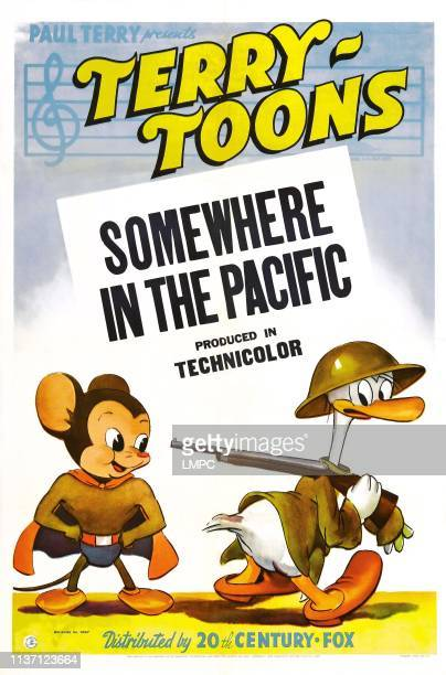 Somewhere In The Pacific poster US poster far left Mighty Mouse 1943