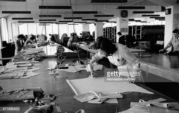 89442e2fdd239 Someworkers working at Italian entrepreneur Luisa Spagnoli s knitwear...  News Photo