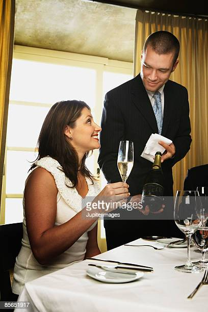 Sommelier and woman