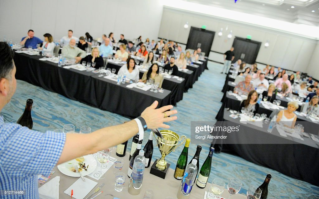 Bank of America Lifestyle Seminar Uvaggio's Somm Slam hosted by Tanner Gill, Heath Porter and Anthony Giglio - 2016 Food Network & Cooking Channel South Beach Wine & Food Festival presented by FOOD & WINE : News Photo