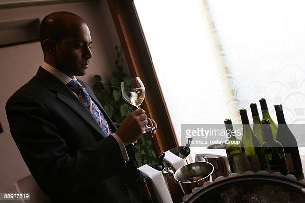 Sommelier Magandeep Singh at a Wine Tasting events at Hyatt Regency hotel in New Delhi