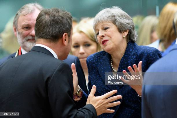 Sommet Européen Europese Top * Xavier Bettel * Theresa May pict by Christophe Licoppe © Photo News via Getty Images