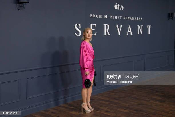 J Son attends the world premiere of Apple TV's Servant at BAM Howard Gilman Opera House on November 19 2019 in the Brooklyn Borough of New York City