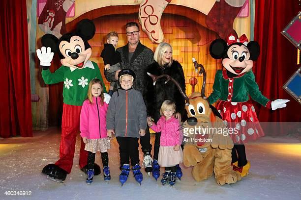 Son Finn McDermott actor Dean McDermott actress Tori Spelling daughter Stella McDermott son Liam McDermott and daughter Hattie McDermott attend...