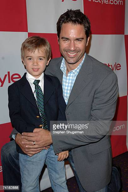 Son Finnigan and actor Eric McCormack attend the In Style party celebrating the publication of Joyce Ostin's book A Tribute to Hollywood Dads at...