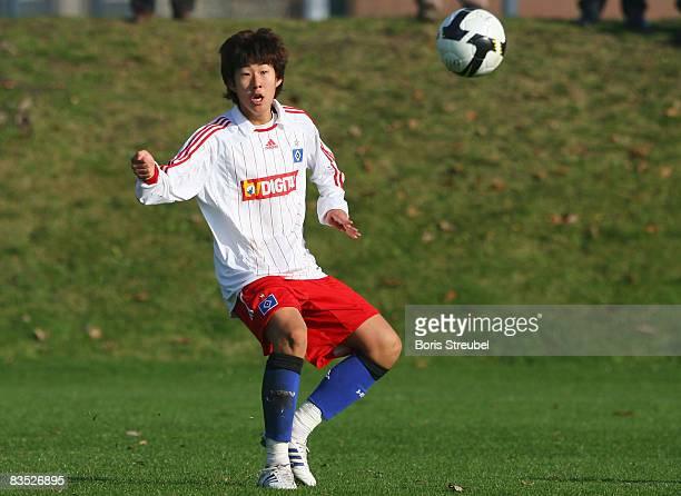 Son Heung Min of Hamburger SV runs with the ball during the B junior match between Hertha BSC Berlin and Hamburger SV on November 01 2008 in Berlin...