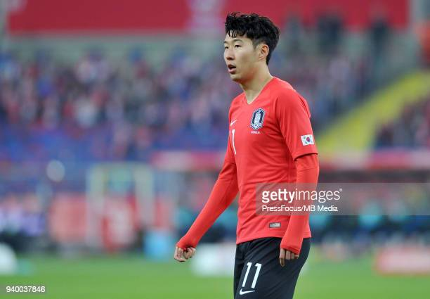 Son Heung Min of Korea Republic during international friendly match between Poland and Korea Republic at Slaski Stadium on March 27 2018 in Chorzow...