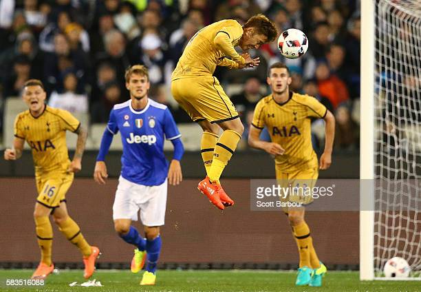 Son Heungmin of Tottenham Hotspur controls the ball during the 2016 International Champions Cup match between Juventus FC and Tottenham Hotspur at...