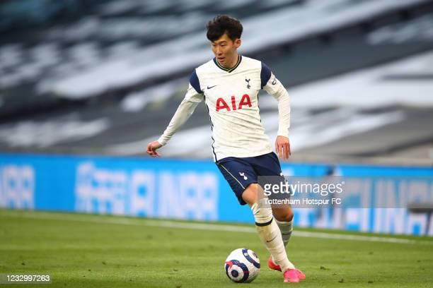 Son Heung-min of Tottenham Hotspur during the Premier League match between Tottenham Hotspur and Aston Villa at Tottenham Hotspur Stadium on May 19,...