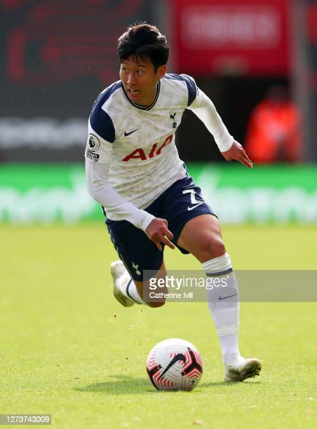 Son Heungmin of Tottenham Hotspur during the Premier League match between Southampton and Tottenham Hotspur at St Mary's Stadium on September 20 2020...